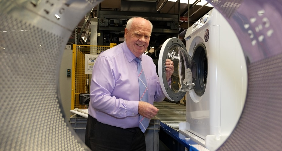 First British washing machines for decades roll off production line