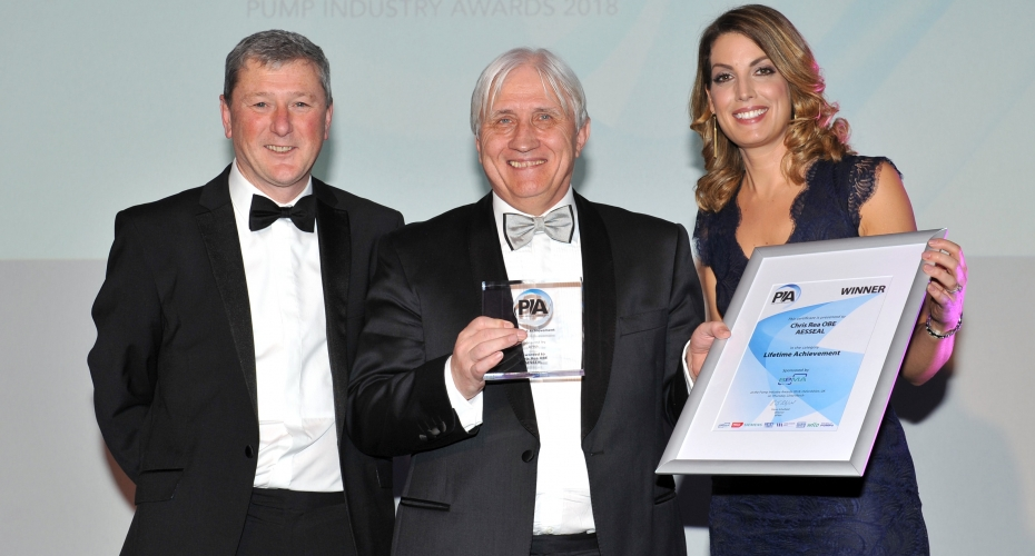 ​Top industry award honours 'unsurpassed' AESSEAL founder Chris Rea