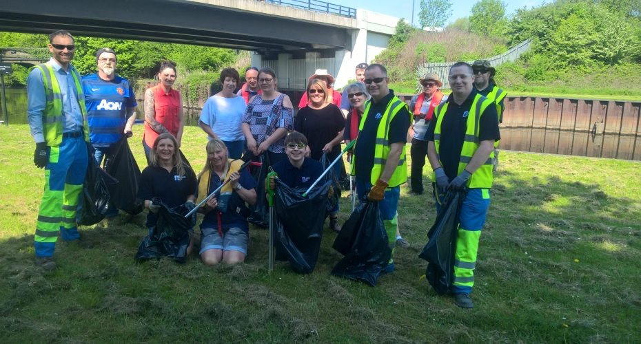 ​Liberty Speciality Steels and Swinton Lock partner for community clear up