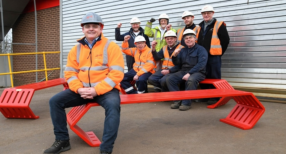 Cleveland Bridge UK uses heritage as inspiration for park benches