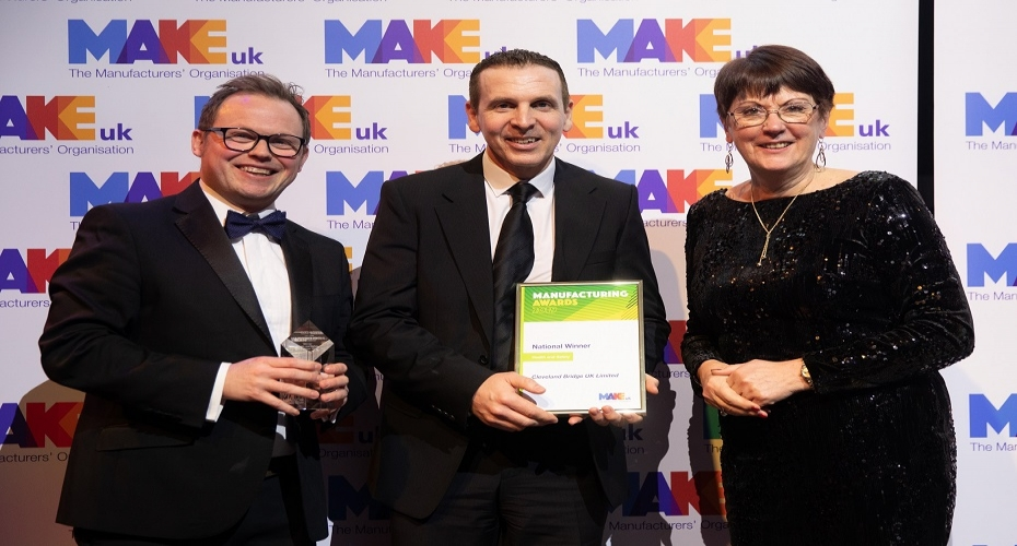 Cleveland Bridge UK strikes gold at manufacturing award for health & wellbeing commitment