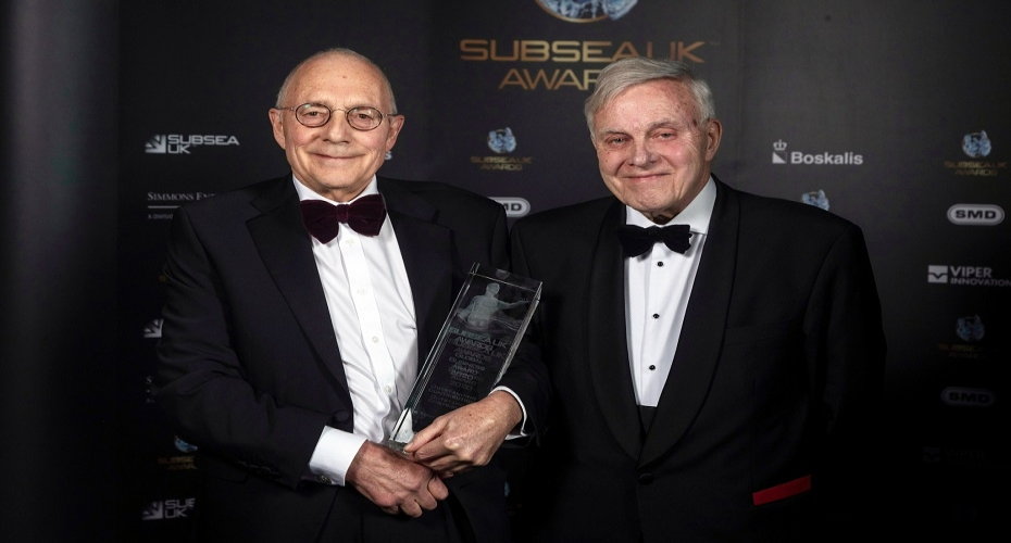 Osbit's Dr Tony Trapp MBE wins award for Outstanding Contribution to UK Subsea Industry