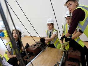 Engineers build bridges into Tees Valley school