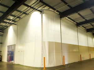 Union Industries eliminates contamination with bespoke static curtain
