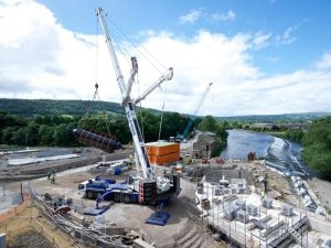 Twin Archimedean screw turbine installed at West Yorkshire development
